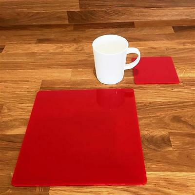 """Square Shaped Black Gloss Finish Acrylic Placemats Size 9/"""" or 12/"""" Sets 4//6//8"""
