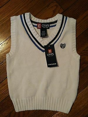 Chaps Sportswear 2/2T Vest White NWT New With Tags