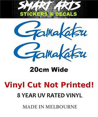 Gamakatsu Stickers Decals 20CM Marine Quality Vinyl Fishing Boat Car Tinnie