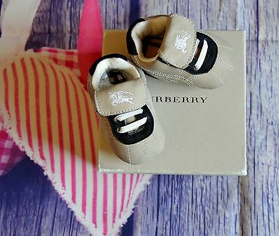 Burberry Baby Boy Or Girl Designer Trainers Newborn VGC Boxed