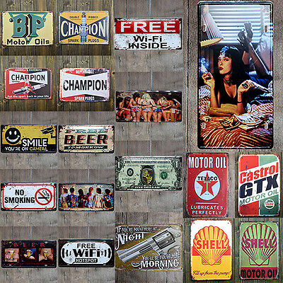 FUCSIA Vintage Retro Metal Letrero De Metal Póster Placa Bar Pub Club Pared