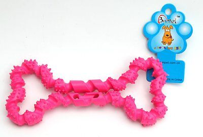 Squeaky Bone Fetch Throw Pet Dog Puppy Play Chew Toy brand new free postage
