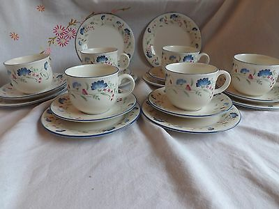 "Pretty Royal Doulton Expressions ""windermere"" Pink & Blue Floral Tea Set"