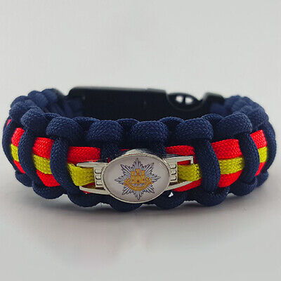 Royal Anglian Regiment Badged Survival Bracelet Tactical Edge Wristband Gift