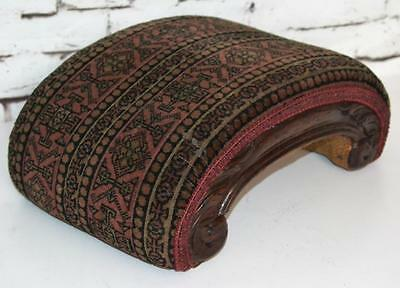 Antique Victorian Carved Mahogany Curved Footstool - FREE Shipping [PL3498]