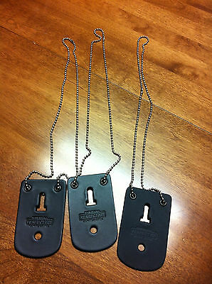 Badge Holder Police Security- Detective -Undercover New with chain set of three