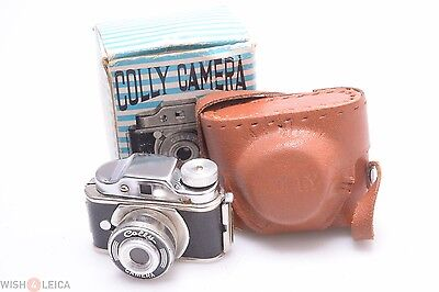 Tougodo Colly Camera Hit Type 14X14Mm Subminiature W/ Box & Case
