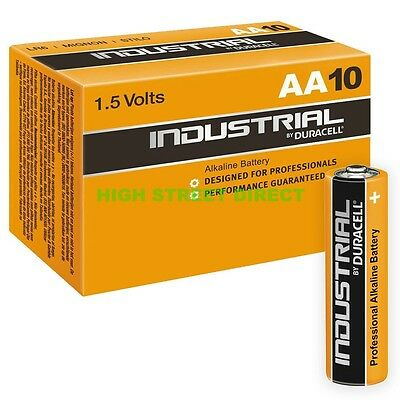 10 X Duracell AA Industrial Alkaline Batteries PC1500 Procell, LR6, MN1500, 1.5V