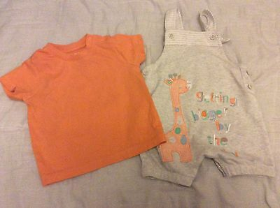 Baby Boy Dungarees Summer Outfit 6-9 Months