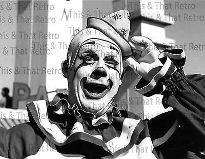 Circus Clown, vintage photo, 1950's