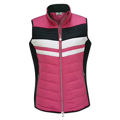 Daily Sports Quilted Wind Vest with Contoured Fit in Navy/Pink