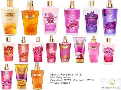 Victoria's Secret Fragrance Mist & Body/Hand Lotions- WHOLE RANGE 250 ML - NEW