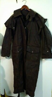 Outback Trading Duster , 2052 , Waxed Cotton Oilskin,  Size XS X Small, Preowned