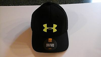 Youth Baseball Under Armour Hat Cap Size sm/md Heat Gear Black MSRP $21.99