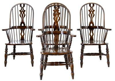 Set Of 4 Oak And Elm Windsor Armchairs