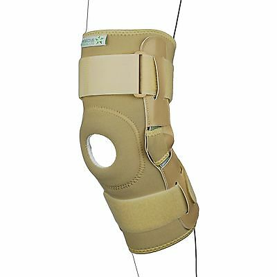 Neoprene Patella Stabilising Brace Knee Support Hinged Strap splint gym