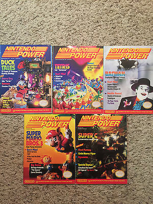 Lot of 5 vintage Nintendo Power Magazines. Issues 8,9,10,11 and 12