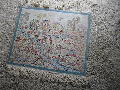 Fine Silk Tapestry - signed