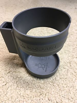 Maclaren stroller cup holder - Gray/Charcoal - GREAT condition