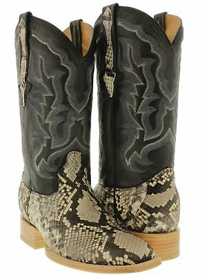 Mens Python Belly Real Snake Skin Boots Leather Rodeo Cowboy Western Exotic