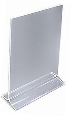 table card display/plastic upright menu ad frame/acrylic sign holder, 8 by