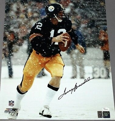 Terry Bradshaw Signed/Autographed Pittsburgh Steelers Snow 16x20 JSA