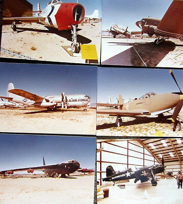 6 Vintage Airplane Pictures Color 3 1/2 Inches by 5 Inches