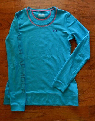 Women's UNDER ARMOUR Turquoise Long Sleeve Shirt Size M