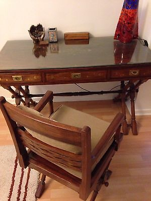 reproduction desk with chair and small 3 draw unit to match