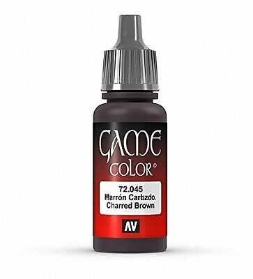 Vallejo Game Color 17 ml VERNICE ACRILICA – Parent Charred Brown
