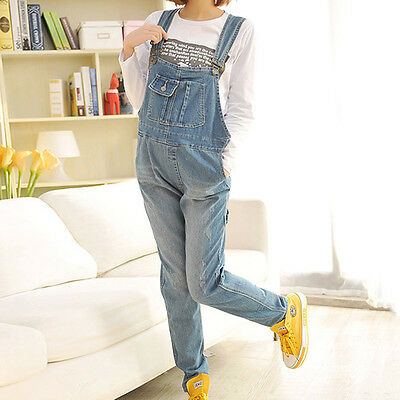 New Pregnant Women Trousers Overalls Denim Pants Maternity Loose Jeans Jumpsuits