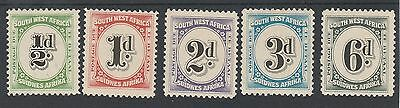 South West Africa 1931 Postage Due Set Mnh **