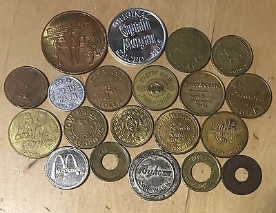 Lot Of 20 Miscellaneous Tokens (lot 62)