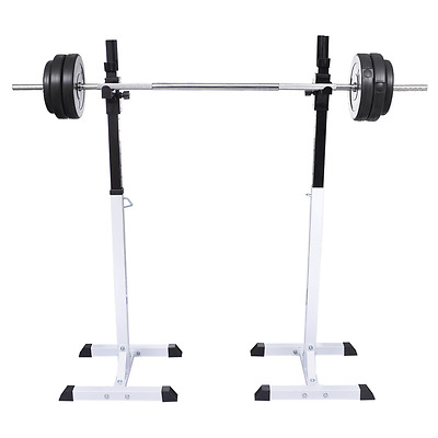 Gym Fitness Squat Barbell Bench Training Safety Weight Support Rack Frame Stand