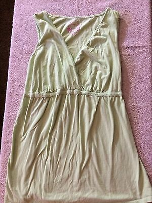 Motherhood Green Sleeveless Maternity Sleepwear Shirt Size Large