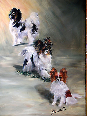 Papillon 3 paps in row limited edition print