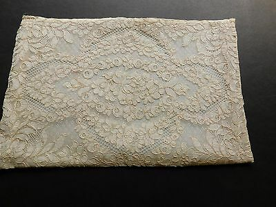 ALENCON Alençon antique LACE French PILLOW SHAM