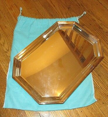 """Tiffany Silver Plate Tray - 14.5"""" by 10.25"""" - with Blue Bag"""