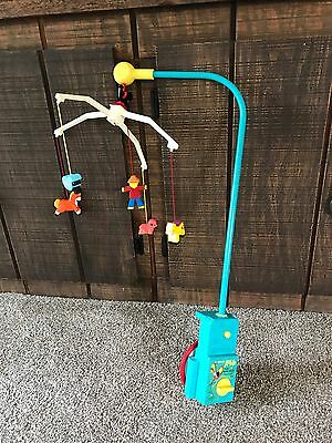 Vintage Fisher Price Crib Baby Mobile Farm #174 Lullaby