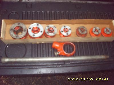 "Ridgid 111R 9 Piece Pipe Threader Set 1/8"" To 1 1/4"""