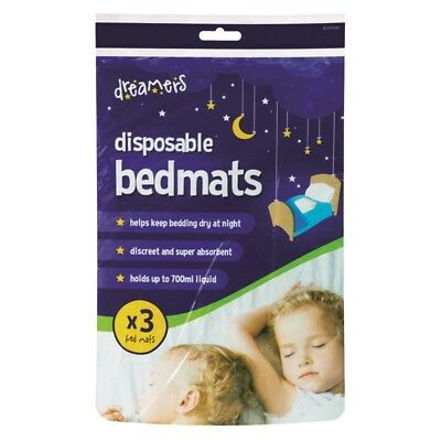 New 3 Pack Highly Absorbent Disposable Baby Children Bed Protector Cover Mat UK