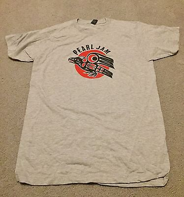 PEARL JAM 2014 North America Tour Eagle Medium T-Shirt moline milwaukee poster