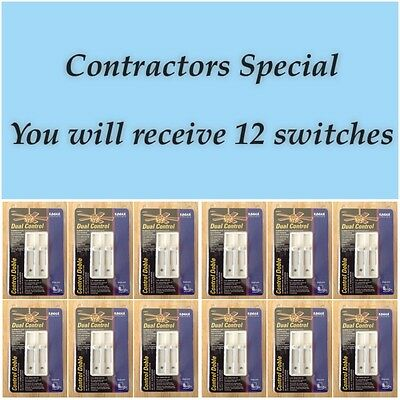 Lot of 12 - Dual Control, Single Pole Light Dimmer / Ceiling Fan Slider Switches