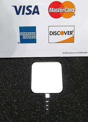 2 Square Reader Credit Card Apple Android Visa Mastercard Amex Discover Stickers