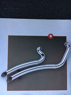 Indian Motorcycle 00-03 Scouts/Spirits Polished Stainless Swan Exhaust, 37-133