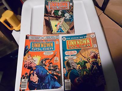 Unknown Soldier lot of 3 books #198 #202 and #203