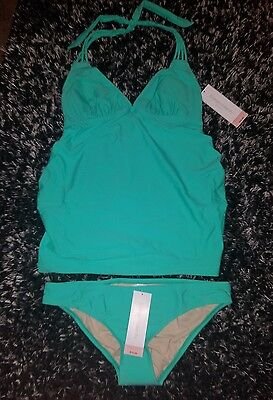 Maternity 2 piece swimsuit NWT size small Liz Lange