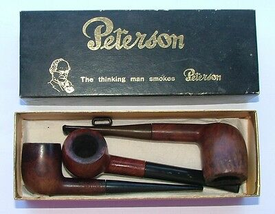 3 x VINTAGE PIPES & BOX ~ PETERSON & WESTMINSTER & BIRCH ~ USED