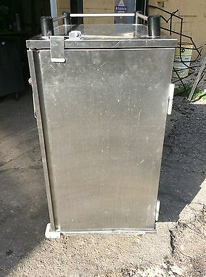 Stainless Steel Transport Catering Holding Cabinet on Casters, 14 sheet Pans