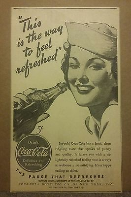 1940 Drink Coca-Cola Coke Ad